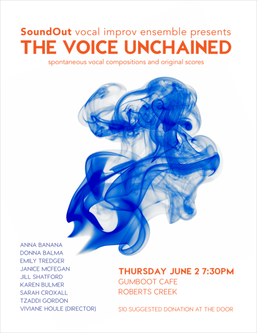 Poster design for the vocal improv group I'm in