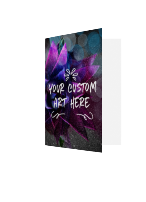 Mockup of a greeting card with YOUR CUSTOM ART HERE