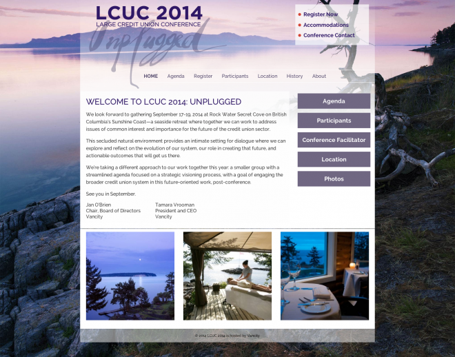 Website for LCUC conference 2014 and 2015
