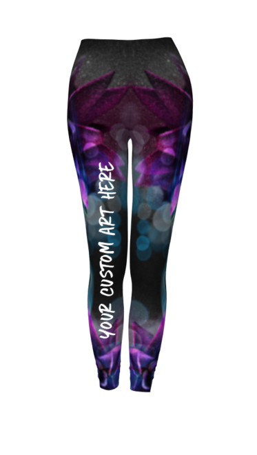 Mockup of leggings with YOUR CUSTOM ART HERE