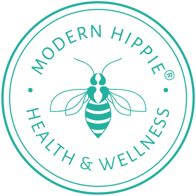 Custom Bee Icon and Logo for Modern Hippie