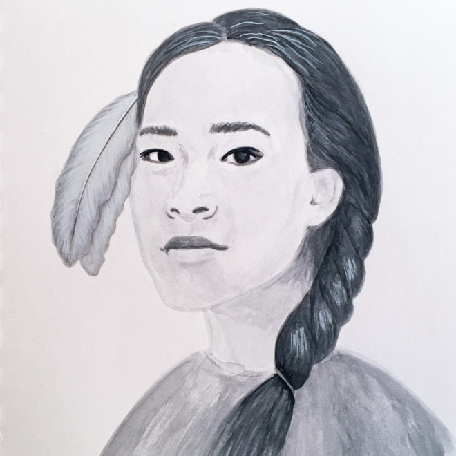 Portrait of Autumn Peltier by Tzaddi Gordon