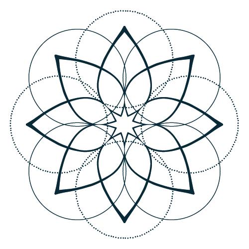 Daleth Bach's full mandala symbol