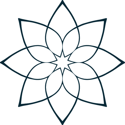 Daleth Bach's star flower derived from the Mandala