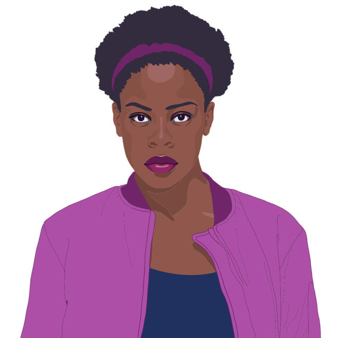 Digital portrait of a young Black woman by Tzaddi Gordon